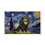 Starry Night Cavalier Rectangle Car Magnet