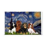 Starry / 4 Cavaliers Rectangle Car Magnet