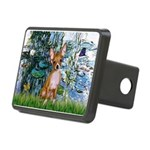 Lilies & Chihuahua Rectangular Hitch Cover