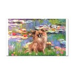 Lilies / Chihuahua (lh) Rectangle Car Magnet