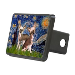 Starry Night / 2Chinese Crest Hitch Cover