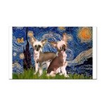Starry Night / 2Chinese Crest Rectangle Car Magnet