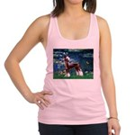 Lilies / Chinese Crested Racerback Tank Top