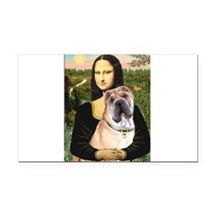 Mona Lisa's Shar Pei (#5) Rectangle Car Magnet