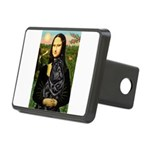 Mona's Black Shar Pei Rectangular Hitch Cover