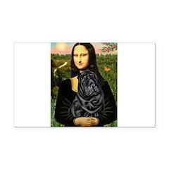 Mona's Black Shar Pei Rectangle Car Magnet