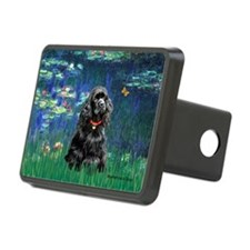 Lilies (5)/Cocker (Blk) Hitch Cover