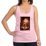 Queen / Cocker Spaniel (br) Racerback Tank Top
