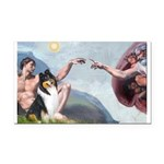 Creation / Collie Rectangle Car Magnet