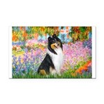 Garden / Collie Rectangle Car Magnet