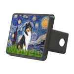 Starry Night / Collie (tri) Rectangular Hitch Cove