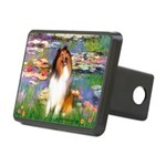 Lilies (2)/Collie (1S) Rectangular Hitch Cover