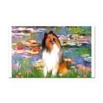 Lilies (2)/Collie (1S) Rectangle Car Magnet