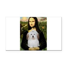 Mona's Coton de Tulear Rectangle Car Magnet