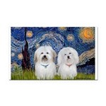 Starry / Coton Pair Rectangle Car Magnet
