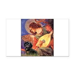 Mandolin Angel & Doxie (BT) Rectangle Car Magnet