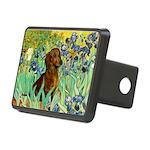 Irises & Dachshund Rectangular Hitch Cover