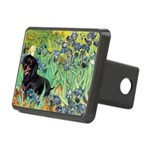 Irises & Dachshund (BT4) Rectangular Hitch Cover