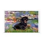 Lilies (2) & Dachshund Rectangle Car Magnet