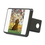 Spring / Dachshund Rectangular Hitch Cover