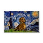Starry / Dachshund Rectangle Car Magnet