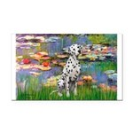 Lilies/ Dalmatian #1 Rectangle Car Magnet