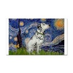 Starry Night / Dalmation Rectangle Car Magnet