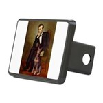 Lincoln's Red Doberman Rectangular Hitch Cover