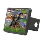 Lilies2 / 2 Dobies Rectangular Hitch Cover