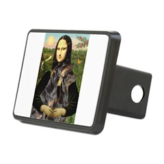 Mona's 2 Dobies Rectangular Hitch Cover
