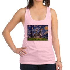 Starry Night / 2 Dobies Racerback Tank Top