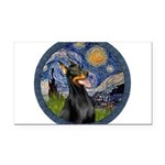 Starry Night Doberman (#1) Rectangle Car Magnet