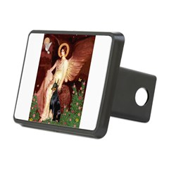 Seated Angel & Dobie Hitch Cover