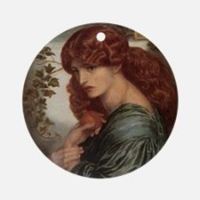Proserpine by Rossetti Ornament (Round)