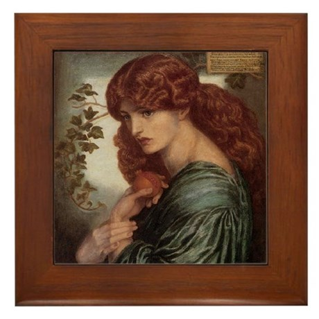 Proserpine by Rossetti Framed Tile