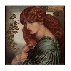 Proserpine by Rossetti Tile Coaster