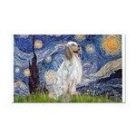 English Setter / Starry Night Rectangle Car Magnet