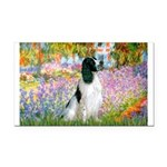 Monet's garden & Springer Rectangle Car Magnet