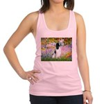 Monet's garden & Springer Racerback Tank Top