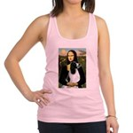 Mona Lisa/English Springer Racerback Tank Top