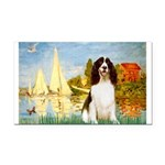 Sailboats / Eng Spring Rectangle Car Magnet