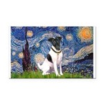 Starry / Fox Terrier (#1) Rectangle Car Magnet