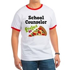 School Counselor Funny Pizza T