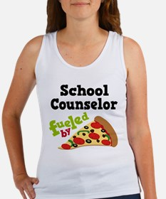 School Counselor Funny Pizza Women's Tank Top