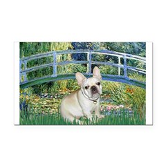 Bridge / Fr Bulldog (f) Rectangle Car Magnet