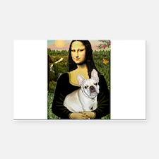 Mona / Fr Bulldog (f) Rectangle Car Magnet