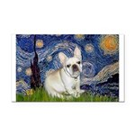 Starry / Fr Bulldog (f) Rectangle Car Magnet