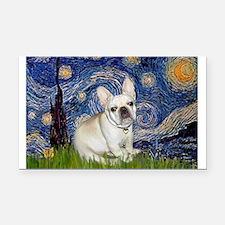 Starry / Fr Bulldog (f) Rectangle Car Magnet