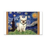 Starry/French Bulldog Rectangle Car Magnet