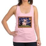 Starry/French Bulldog Racerback Tank Top